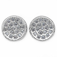 1.40 Grams Micro Pave Setting American Diamond Rhodium Plate