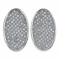 3.50 Grams Micro Pave Setting American Diamond Rhodium Plate