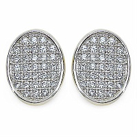 1.90 Grams Micro Pave Setting American Diamond Gold Plated C