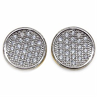 1.70 Grams Micro Pave Setting American Diamond Gold Plated C