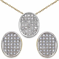 2.50 Grams Micro Pave Setting American Diamond Gold Plated C