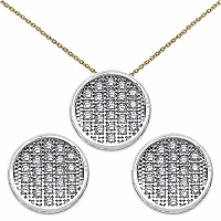 2.30 Grams Micro Pave Setting American Diamond Gold Plated C