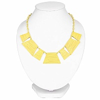 Yellow Plated Chunky Fashion Necklace For Women
