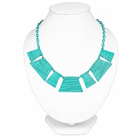 Turquoise Plated Chunky Fashion Necklace For Women