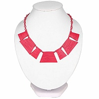 Pink Plated Chunky Fashion Necklace For Women