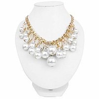 Gold Plated Princess Style Fashion Necklace Adorned With Cre