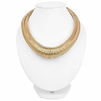 Gold Plated Spring Shape Hasli Style Fashion Statement Neckl