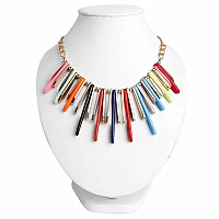Gold Plated Princess Style Multicolour Fashion Statement Nec