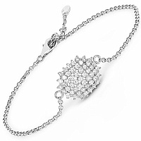 White Cubic Zirconia .925 Sterling Silver Bracelet