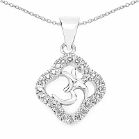 1.90 Grams White Cubic Zirconia .925 Sterling Silver OM Shap
