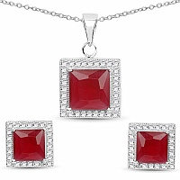 Pink Cubic Zirconia & White Cubic Zirconia .925 Sterling Sil