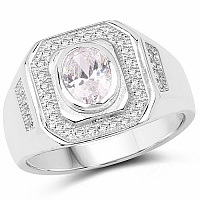 White Cubic Zirconia .925 Sterling Silver Ring