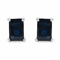 1.65CTW 6x4mm Octagon Shape Genuine Blue Sapphire .925 Sterling