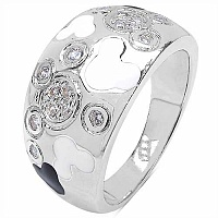 8.40 Grams White Cubic Zirconia .925 Sterling Silver White &