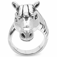 11.10 Grams Horse Shape .925 Sterling Silver Hollow Ring