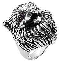 4.30 Grams Fox Shape .925 Sterling Silver Hollow Ring