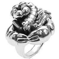 7.40 Grams Scorpion Shape .925 Sterling Silver Hollow Ring