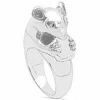 5.30 Grams Kangaroo Shape .925 Sterling Silver Hollow Ring