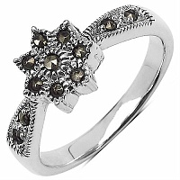 4.50 Grams Marcasite .925 Sterling Silver Ring