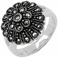 6.20 Grams Marcasite .925 Sterling Silver Ring