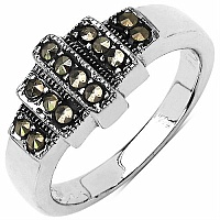 5.10 Grams Marcasite .925 Sterling Silver Ring