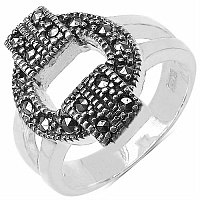 6.40 Grams Marcasite .925 Sterling Silver Ring