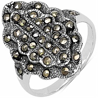 3.00 Grams Marcasite .925 Sterling Silver Ring