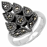 6.10 Grams Marcasite .925 Sterling Silver Ring