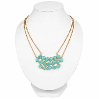 Gold Plated Fashion Designer Pendant Adorned with Turquoise