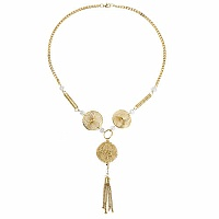 Gold Plated Contemporary Tassel Necklace