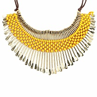 Gold Plated Yellow Thread Brass Necklace