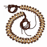Wooden Beige Beaded Designer Ladies Belt