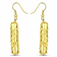 Gold Plated Contemporary Trendy Dangle Earrings