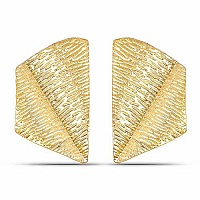Gold Plated Contemporary Fusion Dangle Earrings
