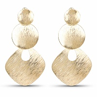Beautiful Gold Plated Dangle Earrings Pair For Women