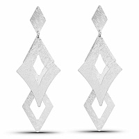 Silver Tone Dangle Earrings For Women