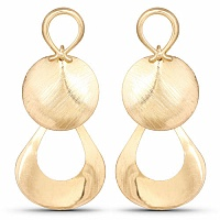 Gold Tone Dangle Earrings For Women
