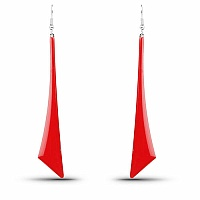 Beautiful Red Enemal Dangle Earrings For Women