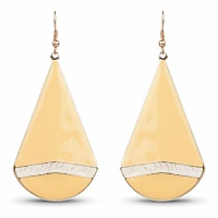 Elegantin Contemporary Look Dangle Enemal Earring For Women