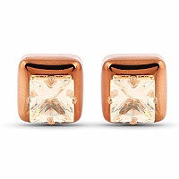 Oxidised Rose Gold Tone Peekaboo Earrings