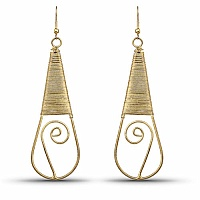 Beautiful Gold Plated Dangle Earrings For Her