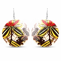 Trendy Costume Antique Printed Dangle Earrings