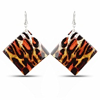 Contemporary Tiger Print Dangle Earrings For Women