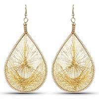 Gold Plated Threader Earrings For Women