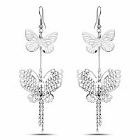 Oxidised Finish Butterfly Shaped Dangler Earrings