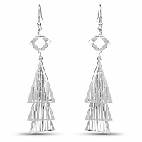 Beautiful Silver Colour Dangle Earrings For Women