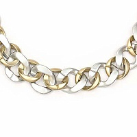 Gold Plated Silver Opera Length Link Style Fashion Necklace