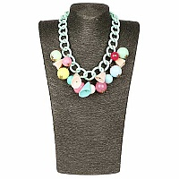 Gold Plated Multicolour Beaded Princess length Fashion Neckl