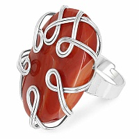 Chrome Plated Fashion Statement Designer Maroon Stone Studde