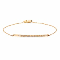 0.13CTW White Diamond 14K Yellow Gold Bracelet
